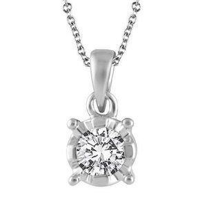 Jewelry - Prong Set Solitaire Round Cut 2.25 Ct Diamond Pend